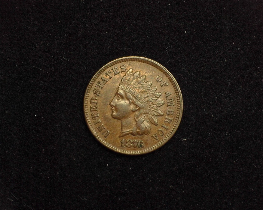 1876 Indian Head XF Obverse - US Coin - Huntington Stamp and Coin