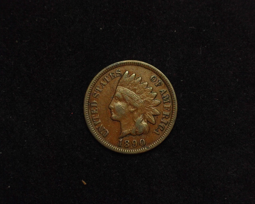 1890 Indian Head VF Obverse - US Coin - Huntington Stamp and Coin