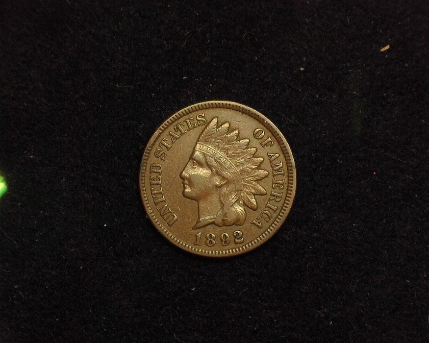 1892 Indian Head VF/XF Obverse - US Coin - Huntington Stamp and Coin