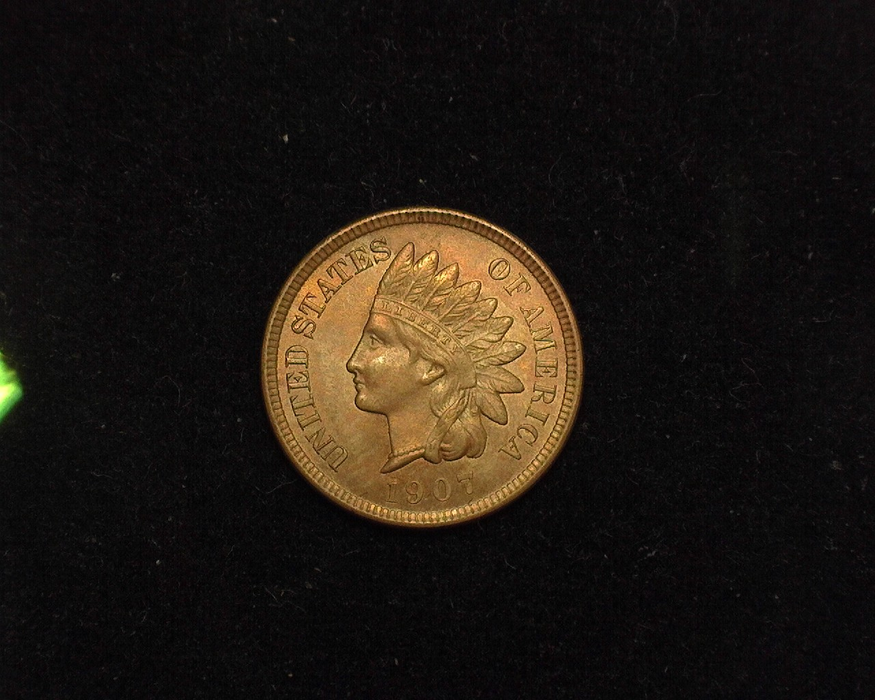 1907 Indian Head BU MS-63 Obverse - US Coin - Huntington Stamp and Coin
