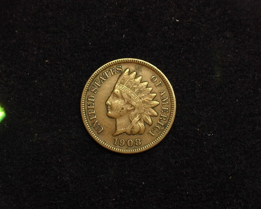 1908 S Indian Head VF/XF Obverse - US Coin - Huntington Stamp and Coin