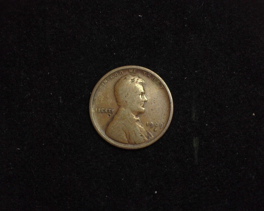 HS&C: 1909 S Cent Lincoln Wheat VG Coin