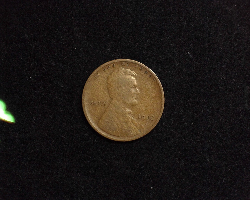 1910 S Lincoln Wheat VG Obverse - US Coin - Huntington Stamp and Coin