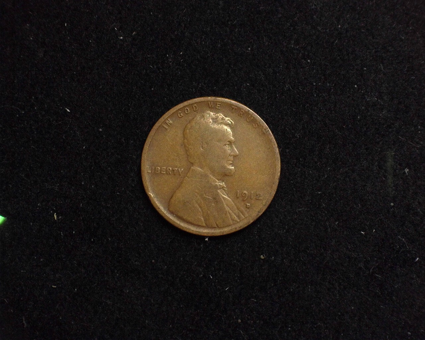 1912 D Lincoln Wheat VG/F Obverse - US Coin - Huntington Stamp and Coin