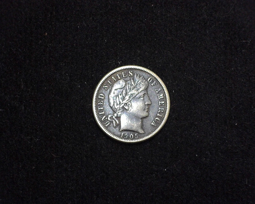 1905 Barber XF Obverse - US Coin - Huntington Stamp and Coin