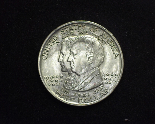 HS&C: 1921 Alabama Half Dollar Commemorative BU, MS-63 Coin