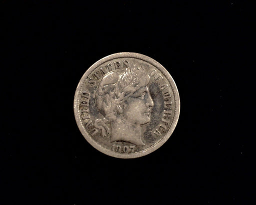 HS&C: 1907 P Barber Dime VF Coin