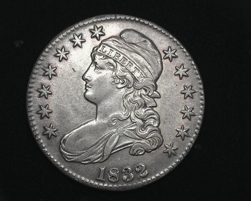 HS&C: 1832 Small letters Capped Bust Half Dollar AU Coin