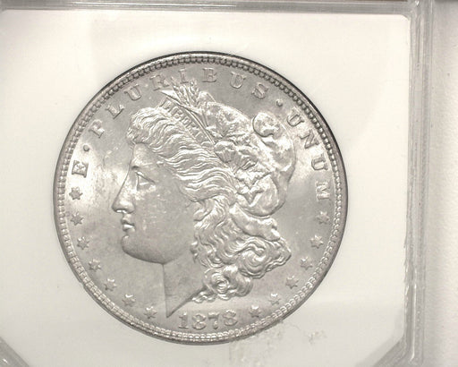HS&C: 1878 7 tail feathers Morgan Dollar PCI - MS63 REV-78 Coin