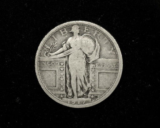HS&C: 1917  TY1 Standing Liberty Quarter VG/F  Coin