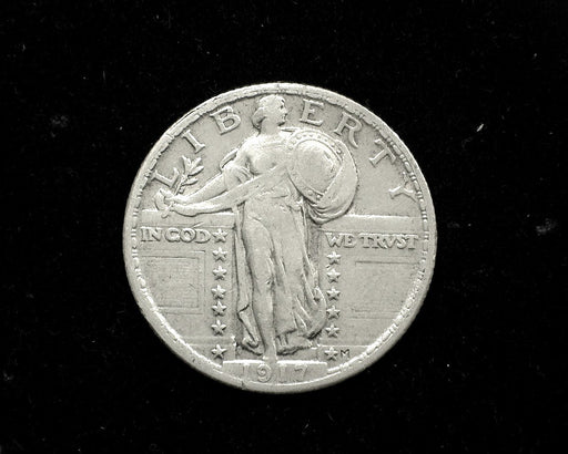 HS&C: 1917  TY1 Standing Liberty Quarter XF  Coin