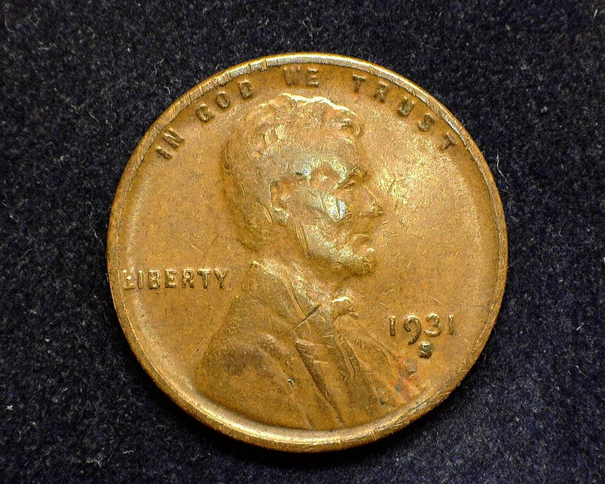 1931 S Lincoln Wheat Penny/Cent F - US Coin
