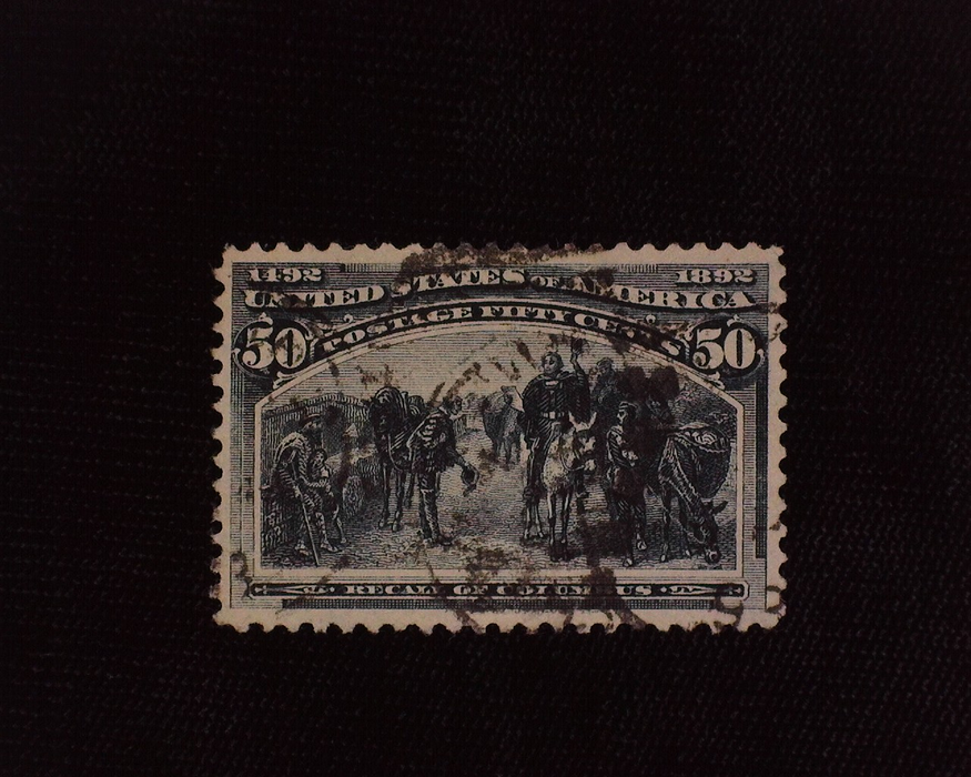 HS&C: US #240 Stamp Used Deep rich color. XF