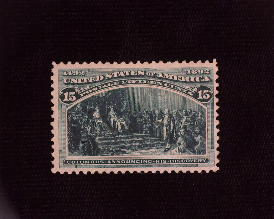 HS&C: US #238 Stamp Mint Deep dark shade. VF LH