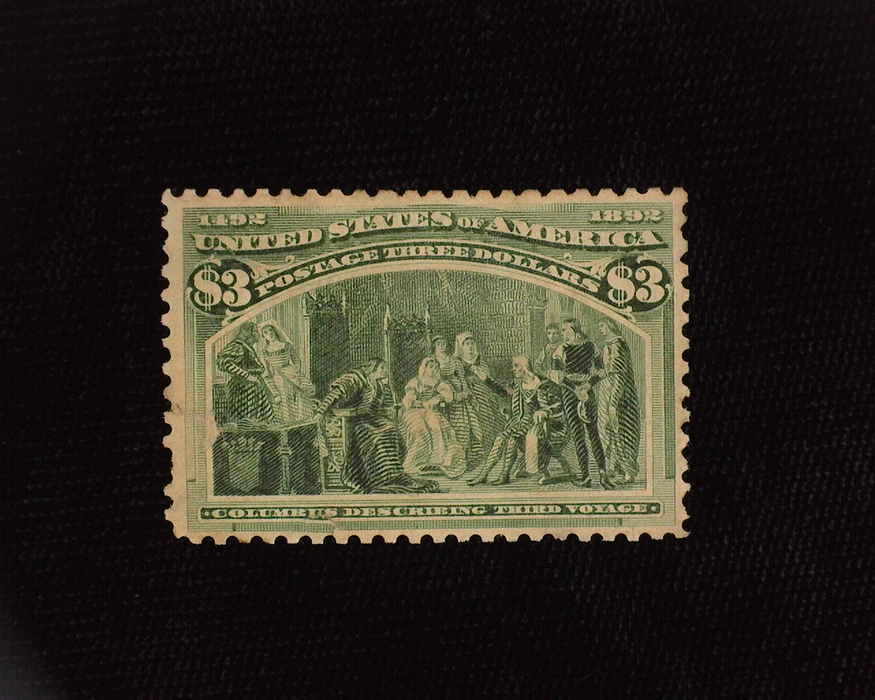 HS&C: US #243 Stamp Mint Small thin and tiny perf tear. Nice color. No gum. F/VF