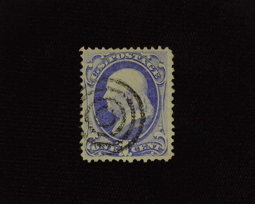 HS&C: US #134 Stamp Used Rich color with black Target cancel. VF