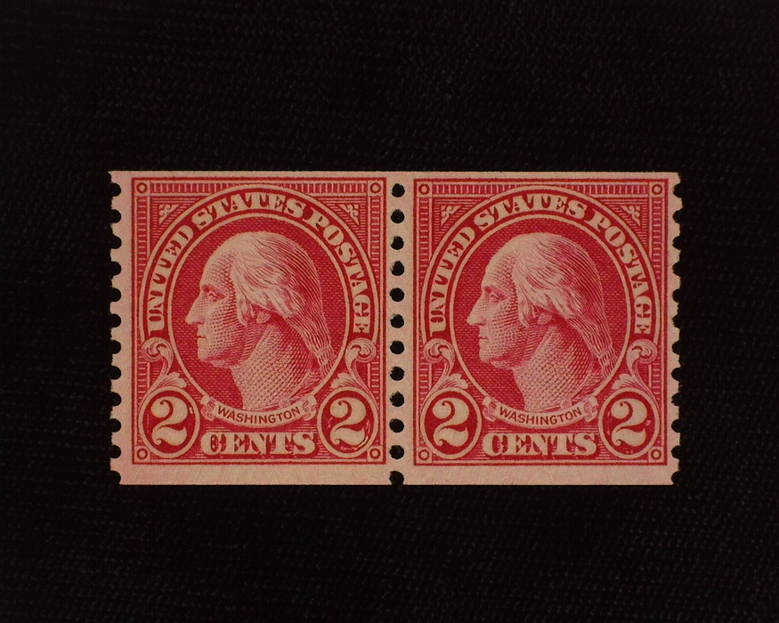 HS&C: US #599A Stamp Mint Fresh horizontal pair. F/VF NH