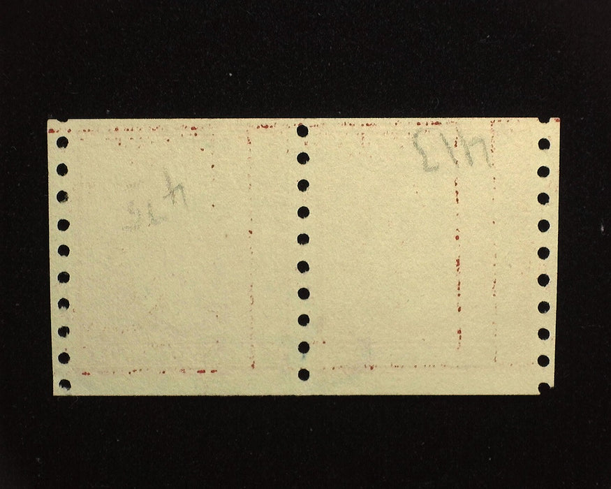 #413 Used Scarce used guide line horizontal pair. F/VF