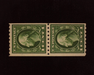 HS&C: US #410 Stamp Mint Fresh vertical pair. VF NH