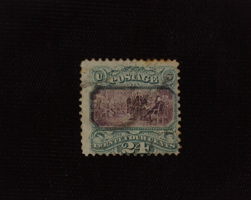 HS&C: US #120 Stamp Used Corner crease. Good color and faint cancel. F