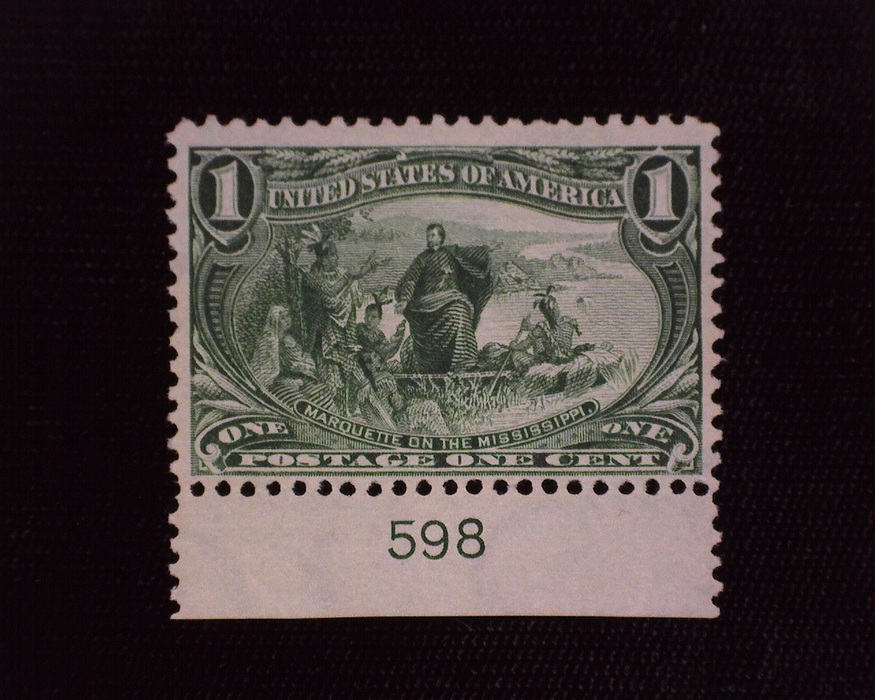 HS&C: US #285 Stamp Mint Fresh plate number stamp. F/VF NH