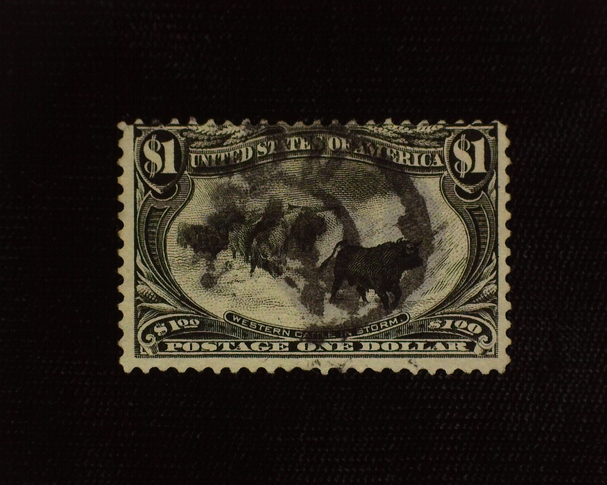 HS&C: US #292 Stamp Used Thins. Intense color. F