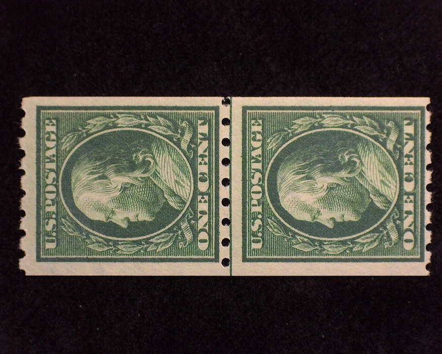 HS&C: US #390 Stamp Mint Fresh guide line pair. F LH