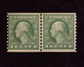 HS&C: US #448 Stamp Mint Fresh joint line pair. F NH