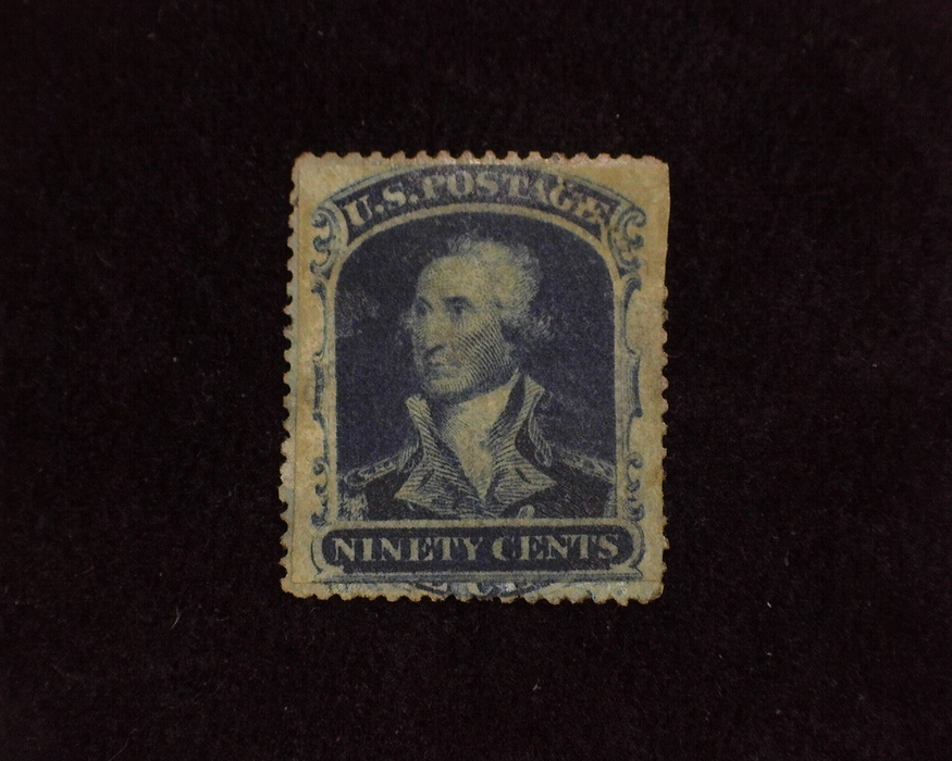 HS&C: US #39 Stamp Used Interesting filler with stamp cut to margins and then rebacked. Thin and sealed tear.