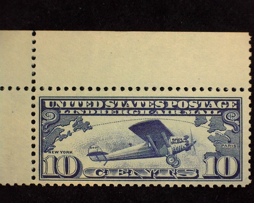 HS&C: US #C10 Stamp Mint Choice corner margin stamp. XF NH
