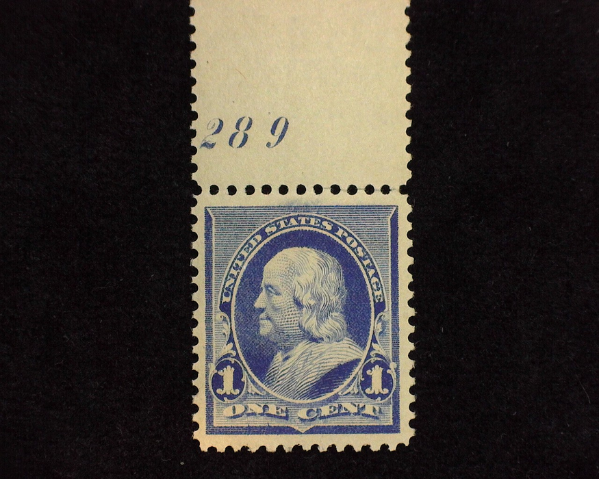 HS&C: US #219 Stamp Mint Outstanding plate number single. Large margins. XF NH
