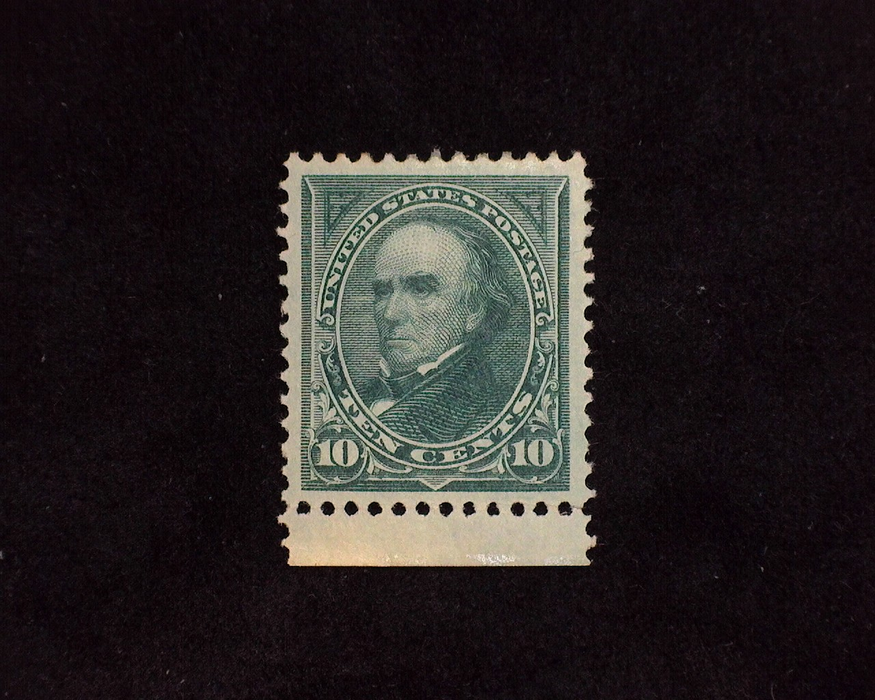 "HS&C: US #258 Stamp Mint ""Huge"" margin stamp with 4-15 P.S.E. stating light gum crease which e feel is extremely harsh. A beauty! XF LH"