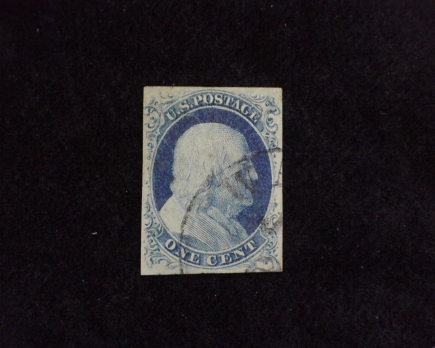 HS&C: US #9 Stamp Used Fresh four margin stamp with good color. VF/XF