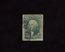 HS&C: US #15 Stamp Used Fresh four margin stamp. F/VF
