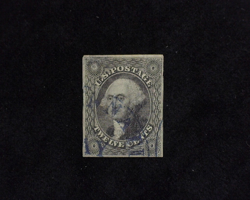 HS&C: US #17 Stamp Used Thins. Just four margin stamp. VF