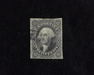HS&C: US #17 Stamp Used 3 1/2 margin stamp. F/VF