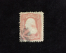 HS&C: US #64b Stamp Used Fresh stamp with corner crease. F