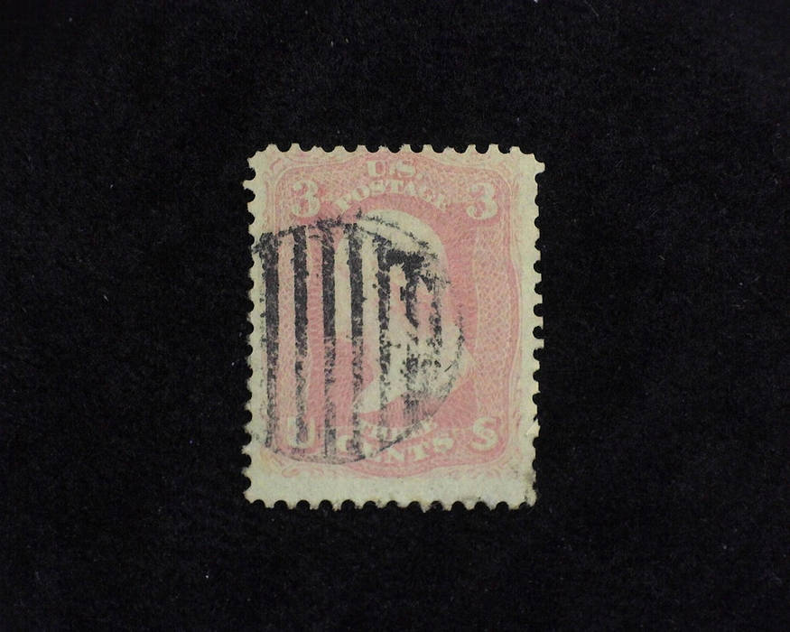HS&C: US #64 Stamp Used Fresh stamp with Black Grid cancel. AVG