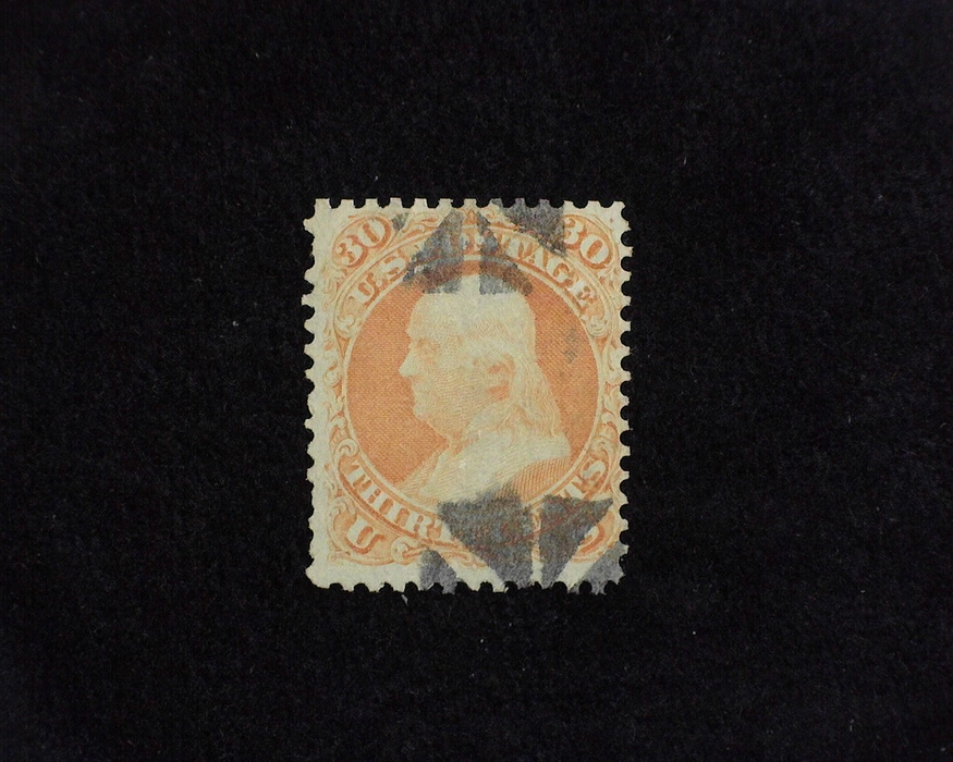 HS&C: US #71 Stamp Used Fresh. F