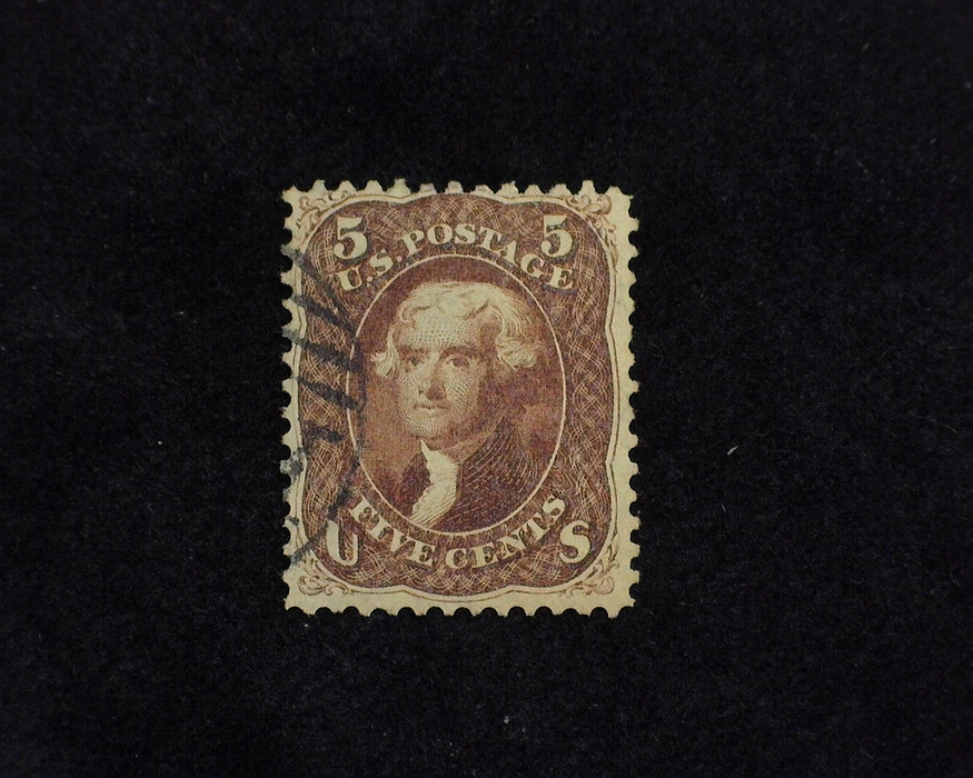HS&C: US #75 Stamp Used Fresh rich color. F/VF