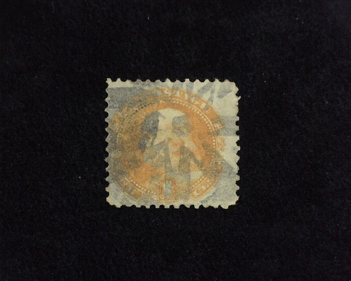 HS&C: US #112 Stamp Used Fancy Star Cork cancel. AVG