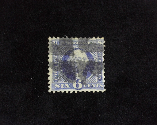 "HS&C: US #115 Stamp Used Fresh stamp with Black Cork ""Crossroads"" cancel. F"