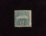 HS&C: US #117 Stamp Mint Regummed and reperforated. F