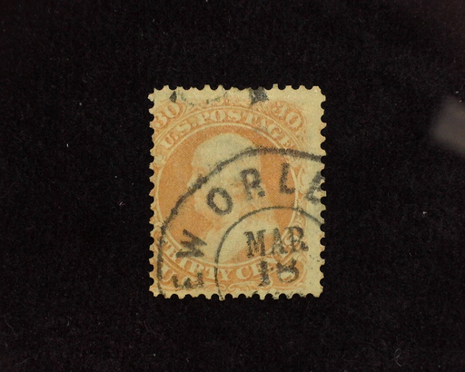 HS&C: US #100 Stamp Used Fresh stamp with black New Orleans cancel. AVG