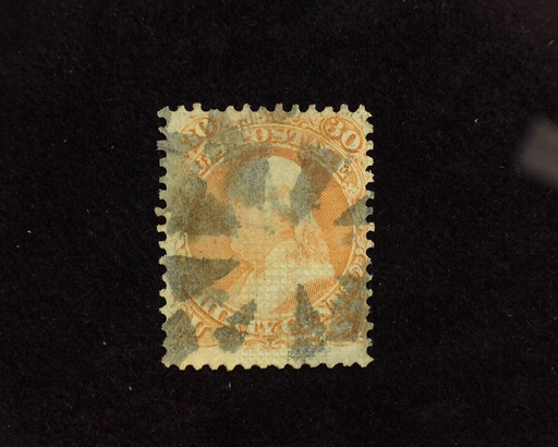 HS&C: US #100 Stamp Used Fresh stamp with segmented cork cancel. F