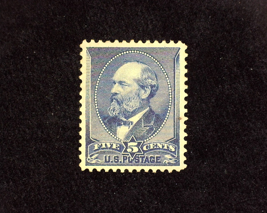 HS&C: US #216 Stamp Mint Unused. No gum stamp. Tiny pulp inclusion. XF