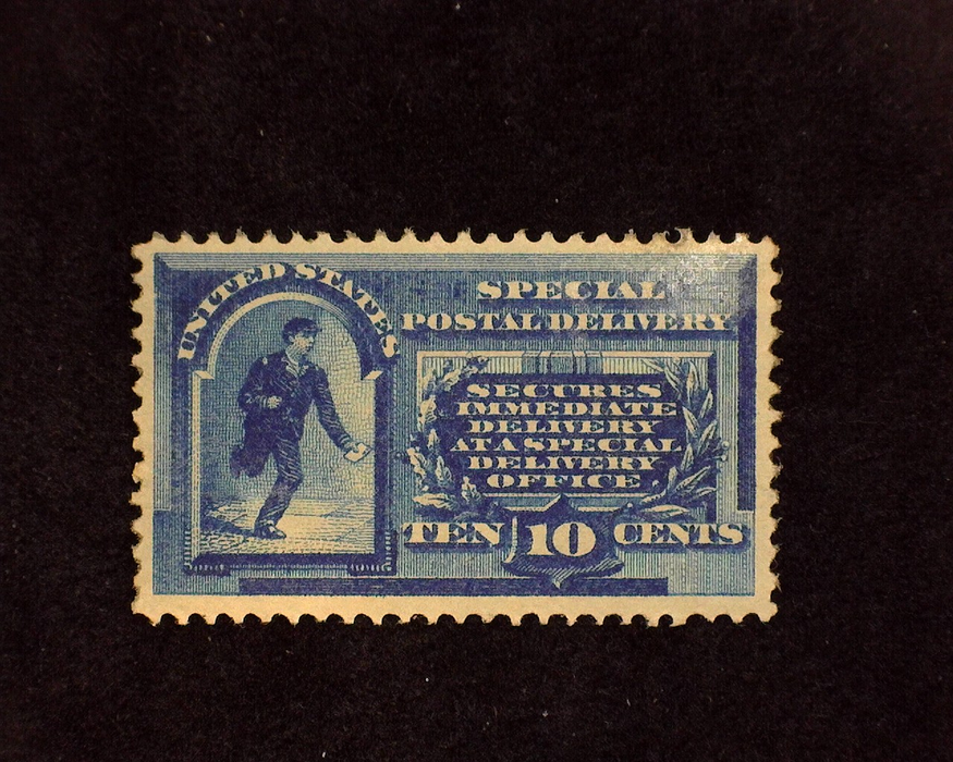 HS&C: US #E1 Stamp Mint Regummed over filled thin. Nice appearing. XF