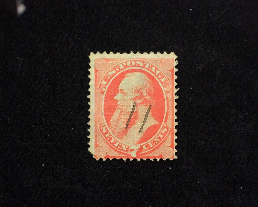 HS&C: US #138 Stamp Used Tiny perf tear and rounded corner. F