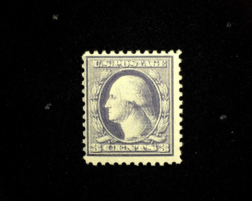 #530 MLH 3 cent Violet Type III Double impression variety Cat $50.00 F