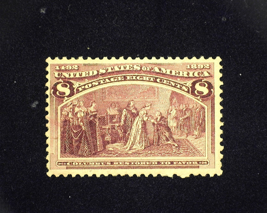 #236 MLH 8 cent Columbian. F